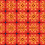 Stock Illustration of Abstract orange symmetric square texture made seamless