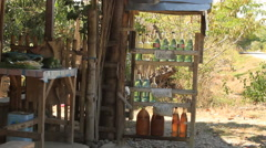 Philippine rural gas station Stock Footage