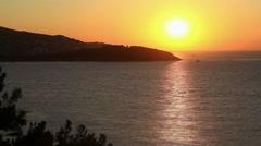 Burgaz Ada sunset timelapse Stock Footage