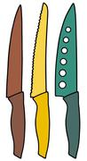 Kitchen knives - stock illustration