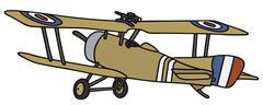 Old military biplane - stock illustration