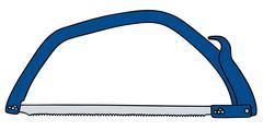 Blue saw - stock illustration