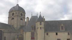 Basilique Notre Dame of Alencon in  lower Normandy France by the day 1920X108 Stock Footage