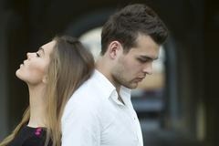 Serious sensual couple Stock Photos