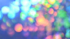 Defocused moving color lights Stock Footage