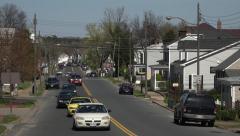 Fredericksburg Virginia historic town traffic 4K Stock Footage