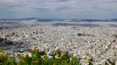 Athens, Greece City View from Hill Top Stock Footage