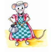 Mouse - grandma Stock Illustration