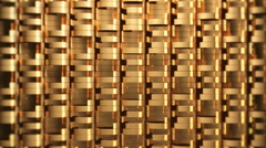 Dynamic golden triangle bricks wall Stock Footage