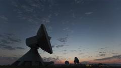 4K Time lapse Parabolic Antenna Sunrise Stock Footage