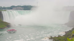 Niagara Falls view from Skylon Tower Stock Footage