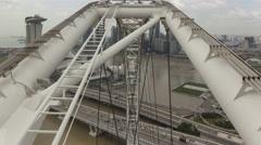 4K Time lapse Singapore aerial Stock Footage