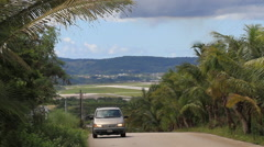 Local Road on the Island of Guam Stock Footage