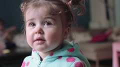 Cute baby girl Stock Footage