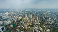 Panorama of a modern city with interchanges. Bangkok, Thailand Stock Footage