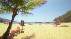 Bright, Sunny Day at an Inviting Tropical Beach Resort in Phuket, Thailand - stock footage
