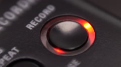 The control buttons of recorder Stock Footage