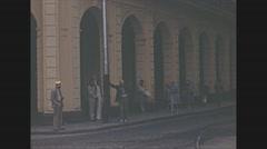 Vintage 16mm film, 1940, Havana streets, 3-shot Stock Footage