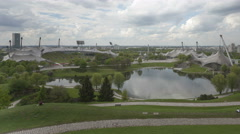 4K Time lapse Olympic Stadium Munich Stock Footage