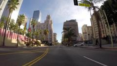 Hill Street Los Angeles Stock Footage