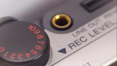 Control buttons recording device Stock Footage