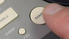 Control buttons video recording device Stock Footage