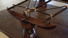 Model Ship in Room in GUAM, USA Stock Footage