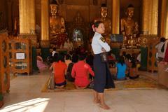 Stock Photo of Daily life  Shwedagon Pagoda