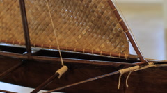 Model of Ancient Boat in GUAM, USA Stock Footage
