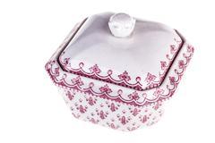 Porcelain sugar bowl - stock photo