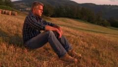 Outdoor relax at sunset Stock Footage