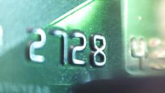 Plastic Credit Card and PIN Terminal Stock Footage