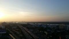 Sunshine in Bangkok city Stock Footage