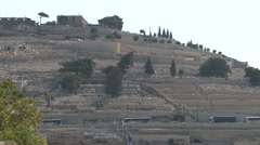 Mount of Olives aka Mount Olivet cemetary, Jerusalem Stock Footage