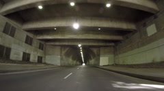 3rd Street Tunnel Los Angeles Stock Footage