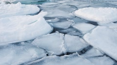 Winter in the Arctic - freezing fjord Stock Footage