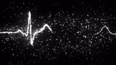 Digital heart monitor EKG electrocardiogram loopable 4k (4096x2304) Stock Footage