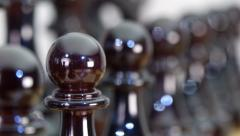 Chess Board and Pieces. Closeup Stock Footage