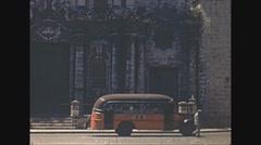 Vintage 16mm film, Havana churches La Catedral de San Cristóbal 1940 Stock Footage