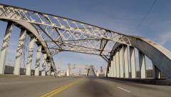 6th Street Bridge Los Angeles - stock footage