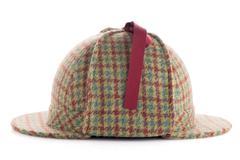 British Deerhunter or Sherlock Holmes cap Stock Photos