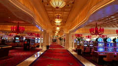 Beautiful Wynn Hotel Las Vegas Stock Footage