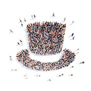 Stock Illustration of people in the form of a hat