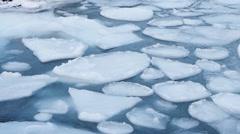 Pancake ice - Arctic winter Stock Footage