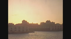 Vintage 16mm film, 1940, Havana harbour sunset Stock Footage