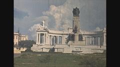 Vintage 16mm film, Havana monuments Jose Miguel Gomez, 1940 Stock Footage