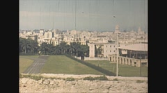 Vintage 16mm film, 1940, Havana skyline pan, bird's eye Stock Footage