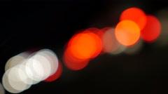 Blured traffic lights on highway  4K 2160p UHD  footage - Car lights on road Stock Footage