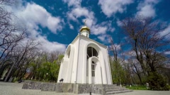 Church In Kherson. Timelaps Stock Footage