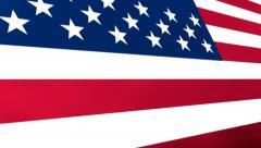 3D Animated USA Flag Stock Footage